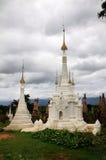 古老inthein缅甸被更新的破庙 免版税库存图片