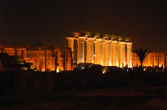 古老karnak寺庙 图库摄影