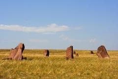 古老khakassia纪念碑一个变形 免版税库存照片