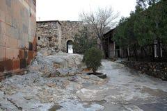 古老Khor Virap修道院在亚美尼亚 库存图片