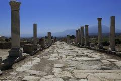 古老Laodicea的专栏 免版税图库摄影