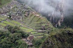 古老machu秘鲁picchu废墟 免版税库存图片