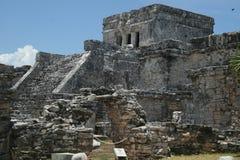 古老Mayans Tulum 库存图片