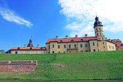 古老Nesvizhsky城堡在涅斯维日 免版税库存照片