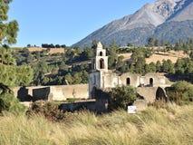 古老NOVOILIAN建筑学在墨西哥 免版税库存图片