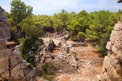 古老Phaselis废墟 图库摄影