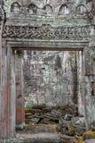 古老Preah可汗寺庙在吴哥 柬埔寨收割siem 免版税库存图片
