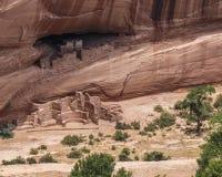 古老Puebloan废墟, Canyon De Chelly 库存照片