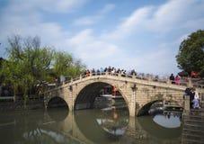 古老qibao上海城镇 免版税图库摄影