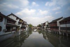 古老qibao上海城镇 库存照片