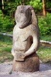 古老scythian雕象石头 免版税库存照片