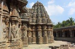古老somnathpur寺庙 库存图片