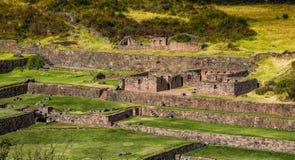 古老Tipon废墟在库斯科秘鲁 免版税库存图片