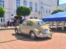 古老VW甲虫汽车在萨诺克 免版税库存照片