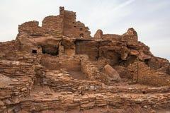 古老Wupatki废墟 库存照片