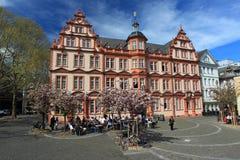 古腾堡博物馆在美因法 库存照片
