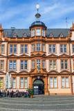 古腾堡房子门面在美因法 免版税库存图片