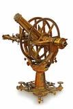古色古香仪器评定望远镜 免版税库存图片