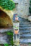 古色古香的中世纪大别墅细节,法国 免版税库存照片