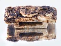 古色古香的中国玉刀柄 图库摄影