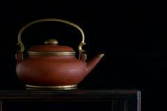 古色古香的中国茶壶 免版税库存图片