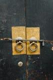 古色古香的中国门把手 免版税图库摄影