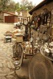 古色古香的义卖市场街道 免版税库存照片