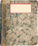 古色古香的书使有大理石花纹的附注&# 库存照片
