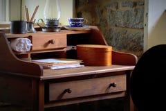 古色古香的书桌场面 图库摄影