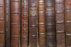 古色古香的书行在架子的 免版税库存照片
