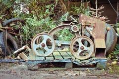 古色古香的五谷手推车 免版税库存图片