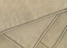 古色古香的亚麻布 库存图片