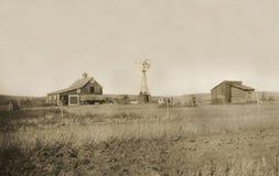 古色古香的仓前空地宅基照片 免版税库存图片