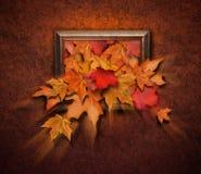 古色古香的以后的秋天框架省略 免版税库存照片