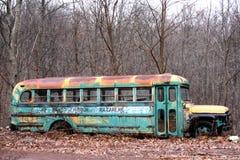 古色古香的公共汽车 库存照片