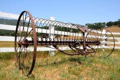 古色古香的农业机械 库存照片