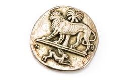 古色古香的别针狮子兔子银 库存图片