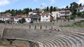 古色古香的剧院和堡垒奥赫里德 影视素材