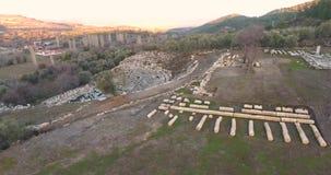 古色古香的剧院和寺庙Stratonikeia土耳其 股票视频