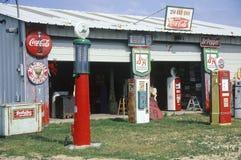 古色古香的加油站 库存照片