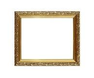 古色古香的华丽金黄图片或照片框架 免版税库存照片