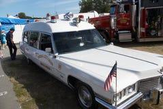 古色古香的卡迪拉克救护车 库存图片