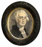 古色古香的印刷品,被隔绝的乔治・华盛顿总统绘画 免版税库存照片