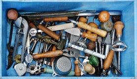 古色古香的厨房工具 免版税库存照片