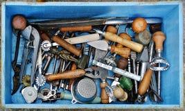 古色古香的厨房工具 免版税图库摄影