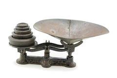 古色古香的厨房标度集合 免版税库存图片