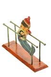 古色古香的双杠体操运动员玩具 免版税库存图片