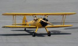 古色古香的双翼飞机 库存图片