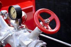 古色古香的发动机起火 免版税库存照片