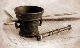 古色古香的古铜色灰浆 免版税图库摄影